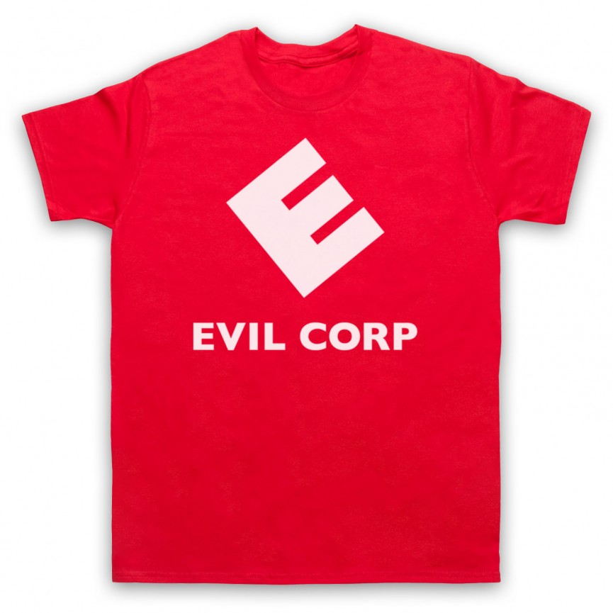 Mr Robot Evil Corp Logo Mens Red T-Shirt