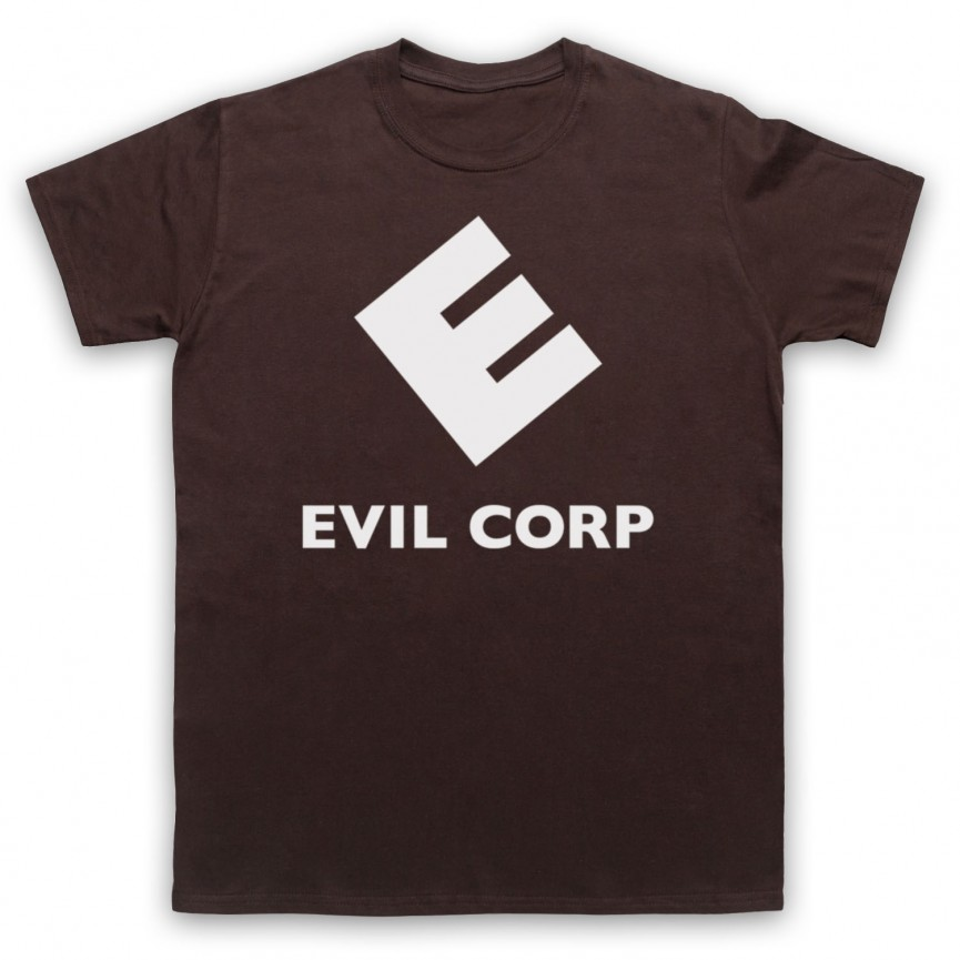 Mr Robot Evil Corp Logo Mens Brown T-Shirt