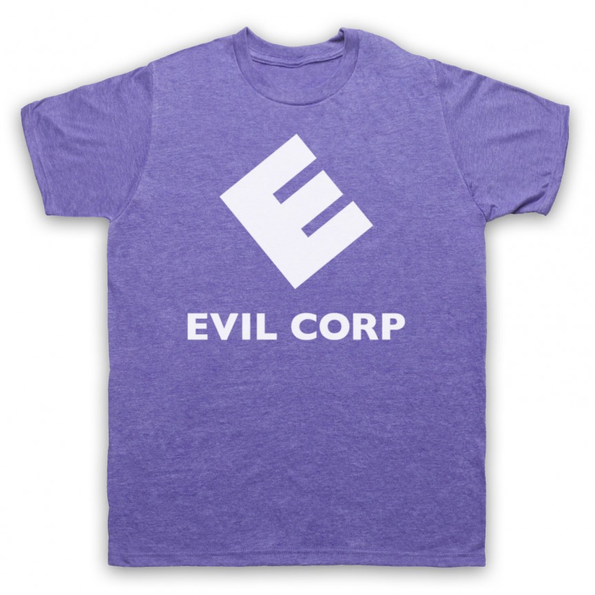Mr Robot Evil Corp Logo Mens Heather Purple T-Shirt