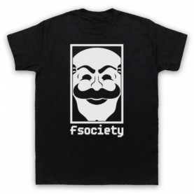 Mr Robot Fsociety Logo Mens Black T-Shirt
