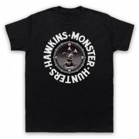 Stranger Things Hawkins Monster Hunters Demogorgon Mens Black T-Shirt