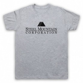 Mr Robot Steel Mountain Logo Mens Heather Grey T-Shirt