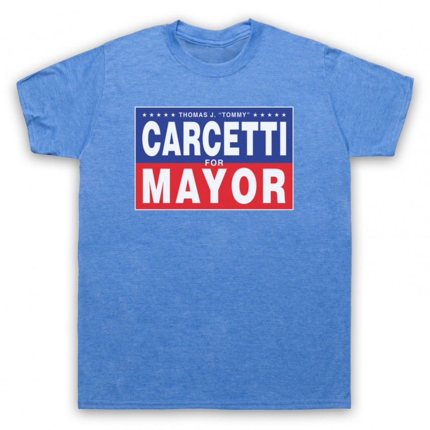 Wire Carcetti For Mayor Mens Heather Blue T-Shirt