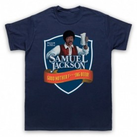 Chappelle Show Samuel Jackson Good Motherf'ing Beer Adams Parody Mens Navy Blue T-Shirt