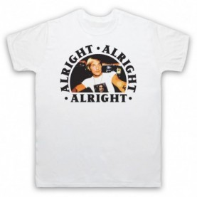Dazed And Confused Alright Alright Alright Mens White T-Shirt