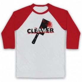 Sopranos Cleaver Film Adults White & Red Baseball Tee