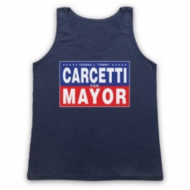 Wire Carcetti For Mayor Adults Navy Blue Tank Top
