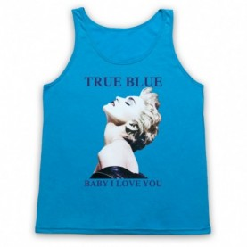 Madonna True Blue Baby I Love You Adults Neon Blue Tank Top