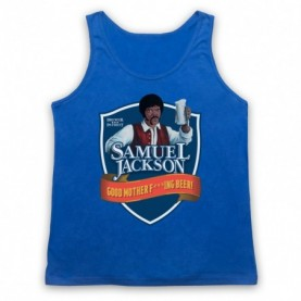 Chappelle Show Samuel Jackson Good Motherf'ing Beer Adams Parody Adults Royal Blue Tank Top