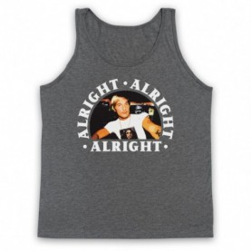 Dazed And Confused Alright Alright Alright Adults Heather Grey Tank Top