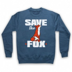 Save The Fox Animal Rights Anti Hunting Protest Slogan Hoodie Sweatshirt Hoodies & Sweatshirts