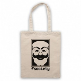 Mr Robot Fsociety Logo Natural Tote Bag