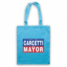 Wire Carcetti For Mayor Light Blue Tote Bag