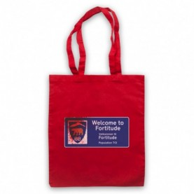 Fortitude Welcome Sign Red Tote Bag