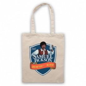 Chappelle Show Samuel Jackson Good Motherf'ing Beer Adams Parody Natural Tote Bag