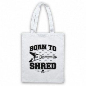 Born To Shred Guitar Player Slogan White Tote Bag