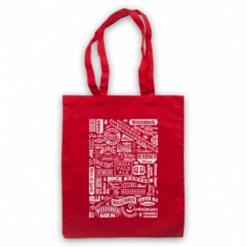 Craft Beer Types Typography Love Of Real Ale & Beer Red Tote Bag