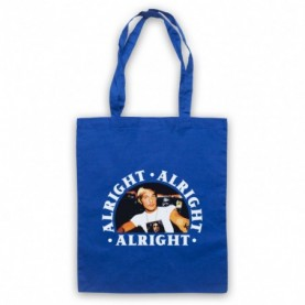 Dazed And Confused Alright Alright Alright Royal Blue Tote Bag