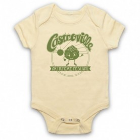 Stranger Things Castroville Artichoke Festival As Worn By Dustin Light Yellow Baby Grow