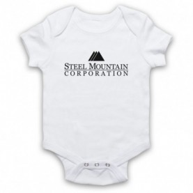 Mr Robot Steel Mountain Logo White Baby Grow