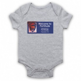 Fortitude Welcome Sign Heather Grey Baby Grow