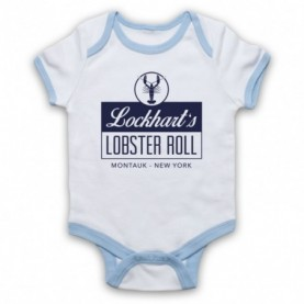 Affair Lockhart's Lobster Roll Restaurant White & Light Blue Baby Grow