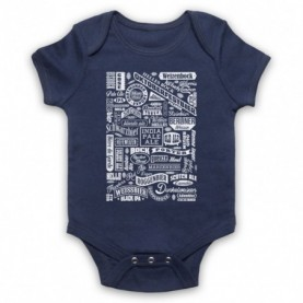 Craft Beer Types Typography Love Of Real Ale & Beer Navy Blue Baby Grow
