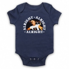 Dazed And Confused Alright Alright Alright Navy Blue Baby Grow