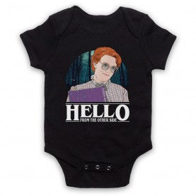 Stranger Things Barb Hello From The Other Side Black Baby Grow