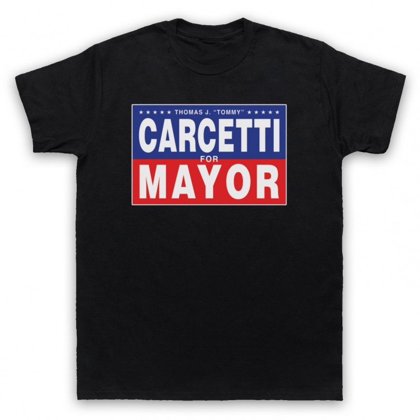 Wire Carcetti For Mayor Mens Black T-Shirt