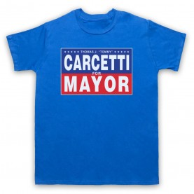 Wire Carcetti For Mayor Mens Royal Blue T-Shirt