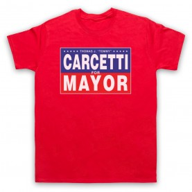 Wire Carcetti For Mayor Mens Red T-Shirt
