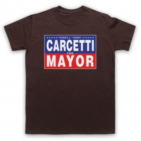 Wire Carcetti For Mayor Mens Brown T-Shirt
