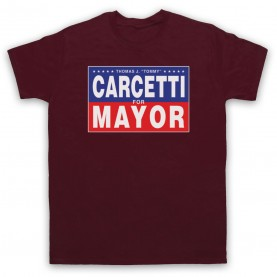 Wire Carcetti For Mayor Mens Maroon T-Shirt
