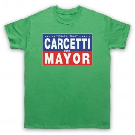 Wire Carcetti For Mayor Mens Green T-Shirt