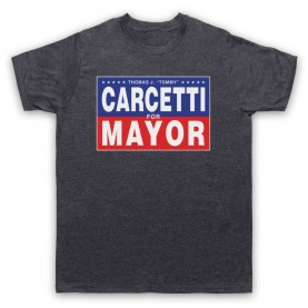 Wire Carcetti For Mayor Mens Heather Slate T-Shirt