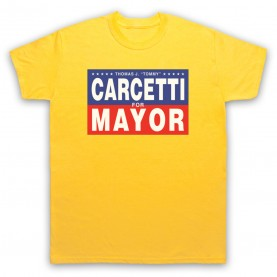 Wire Carcetti For Mayor Mens Yellow T-Shirt