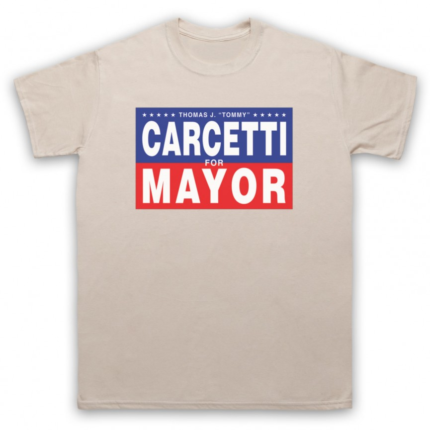Wire Carcetti For Mayor Mens Sand T-Shirt