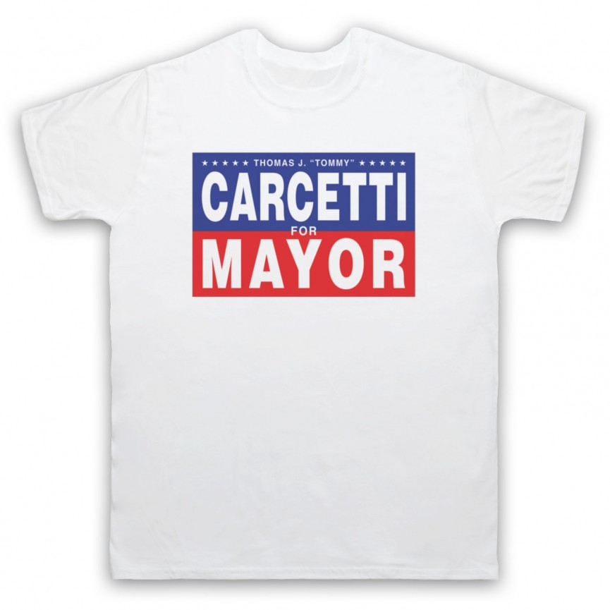 Wire Carcetti For Mayor Mens White T-Shirt