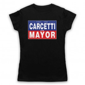 Wire Carcetti For Mayor Womens Black T-Shirt