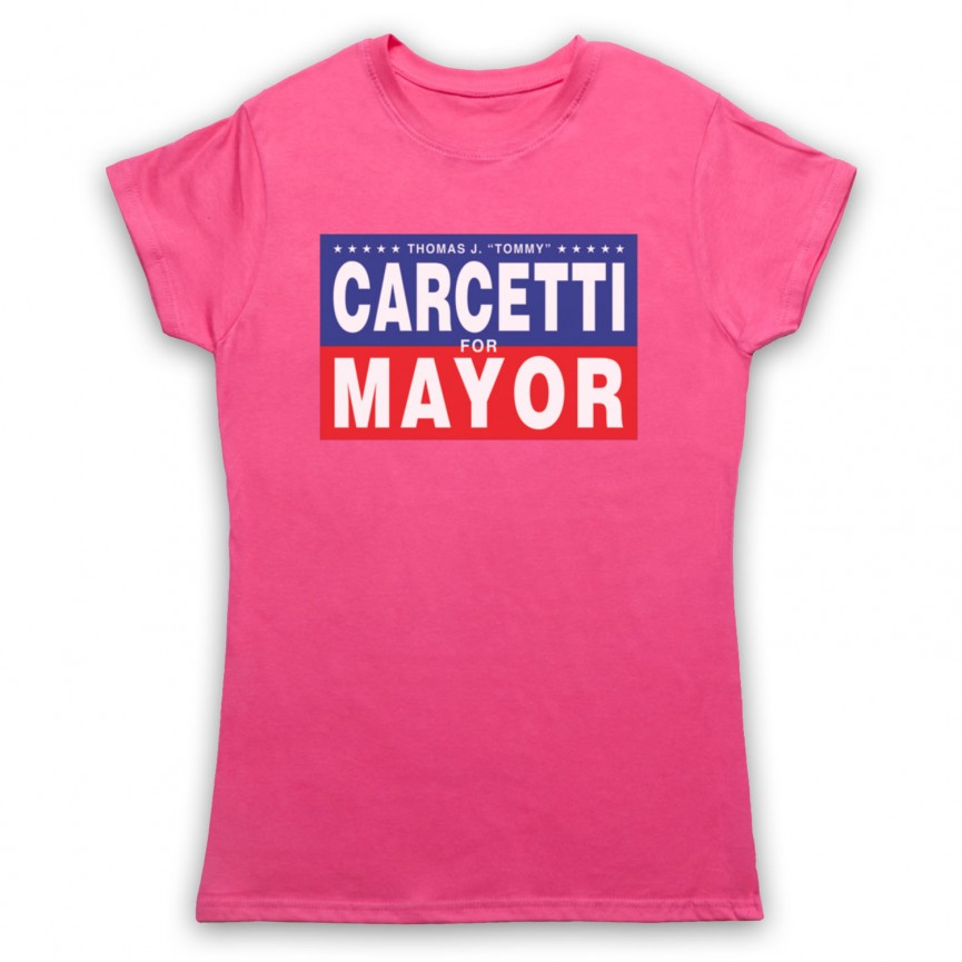 Wire Carcetti For Mayor Womens Pink T-Shirt