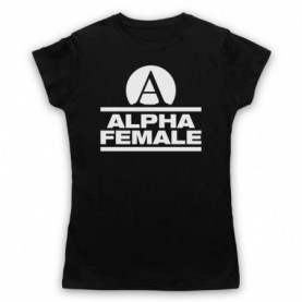 Alpha Female Womens Fitness Gym Workout Slogan T-Shirt T-Shirts