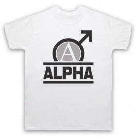 Alpha Male Bodybuilding Gym Workout Slogan Mens White T-Shirt