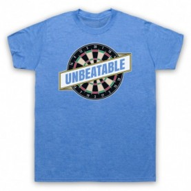 Darts Unbeatable Darts Slogan Mens Heather Blue T-Shirt
