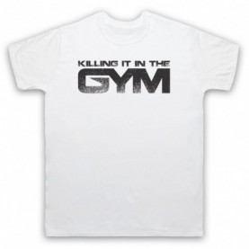 Killing It In The Gym Bodybuilding Gym Workout Slogan Mens White T-Shirt