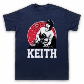 Rolling Stones Keith Richards Guitarist Mens Navy Blue T-Shirt
