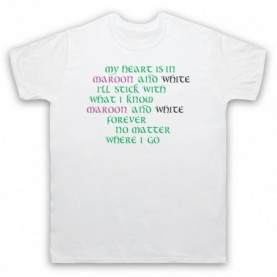 Saw Doctors Galway & Mayo Maroon & White Forever Mens White T-Shirt