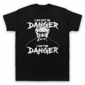 Breaking Bad I Am Not In Danger I Am The Danger Mens Black T-Shirt