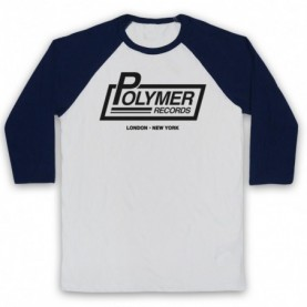 Spinal Tap Polymer Records Adults White & Navy Blue Baseball Tee