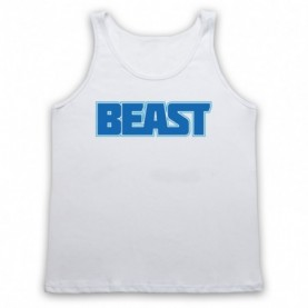 Beast Bodybuilding Gym Workout Slogan Adults White Tank Top